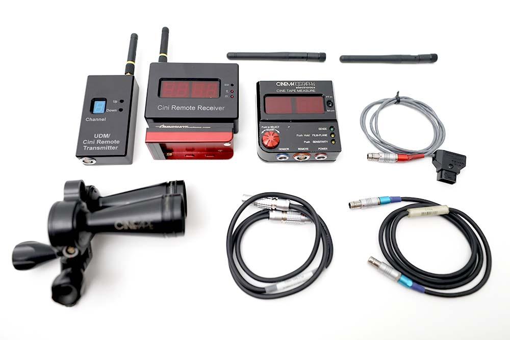 Entfernungsmesser SET Cine Tape Measure mit PLC Cine Remote